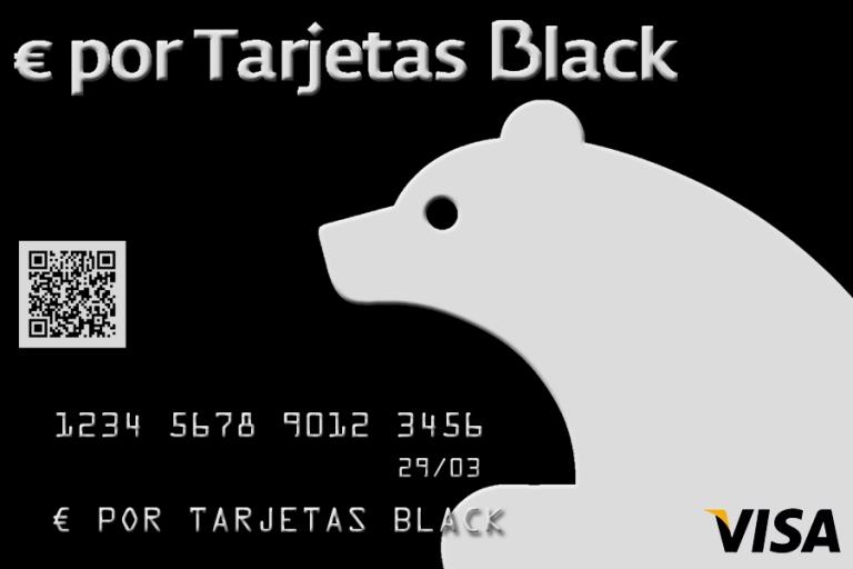 € por Tarjetas Black